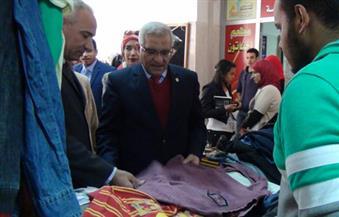 رئيس-جامعة-المنيا-يفتتح-المعرض-السنوي-الخيري-لكلية-السياحة-والفنادق