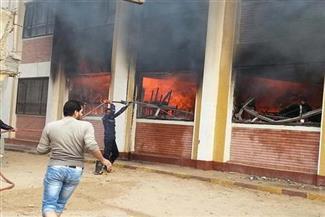 نشوب-حريق-بمدرسة-ناصر-التجريبية-فى-المنصورة