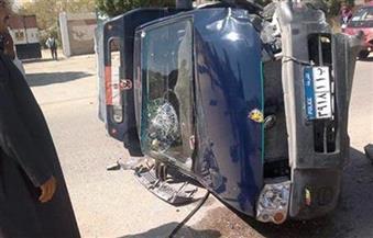 مصرع ضابط ومجند وإصابة 5 في تصادم سيارة شرطة بنقل بالسويس