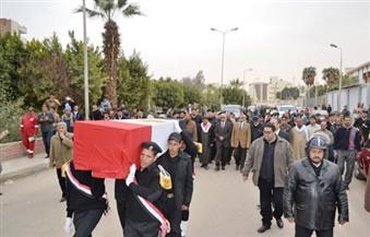 جنازة عسكرية لشهداء قويسنا بمسقط رأسهم بالمنوفية