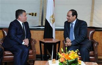 السيسي يتلقى اتصالًا من ملك الأردن للتعزية في ضحايا قطار الإسكندرية