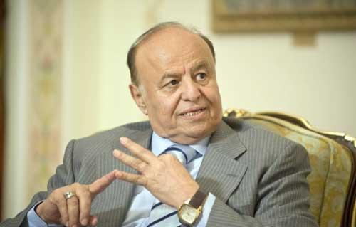 الرئيس اليمني يعزي الرئيس السيسي في ضحايا حادث المنيا -