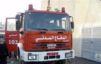 السيطرة علي حريق بمخزن قطع غيار دراجات بخارية بطريق مصر الإسكندرية الصحراوي