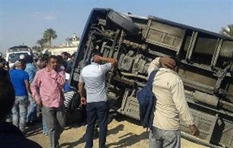 """إصابة 24 عاملا في انقلاب ميني باص بطريق """"السويس - السخنة"""""""