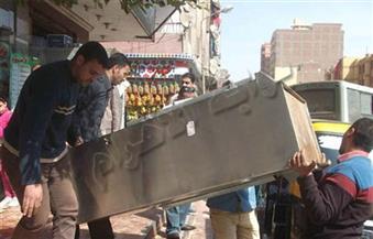 حملة لرفع إشغالات ميدان الجامع بمصر الجديدة