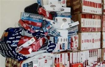 ضبط 93 ألف علبة سجائر بدون سندات و1.3 طن أرز ناقص الوزن بأسيوط