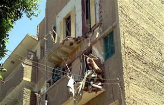 انهيار شرفة بمنزل مكون من 3 طوابق وإصابة مواطنين في الفيوم