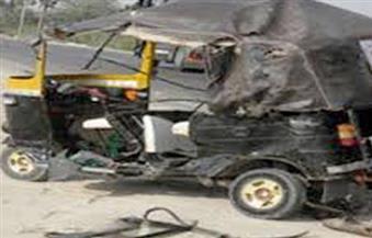 إصابة شخصين في انقلاب توك توك بمدينة نصر