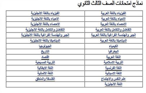 نماذج امتحانات ثالث ثانوي علمي اليمن pdf