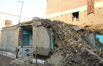 محافظة المنوفية: انهيار جدار منزل ريفي بقرية طه شبرا دون خسائر بشرية