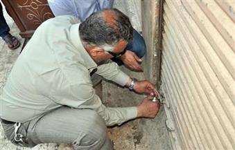 غلق 7 محلات مخالفة لشروط الترخيص في حلوان