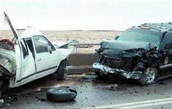 إصابة ٤ أشخاص بجروح وكدمات فى حادث تصادم على طريق الإسكندرية الصحراوي