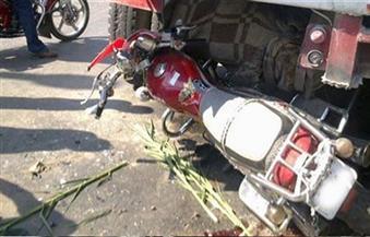مصرع مواطنين في حادث تصادم سيارة نقل ودراجة نارية بالفيوم