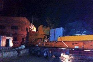 اصطدام سيارة نقل بعدد من السيارات على الطريق الدائري