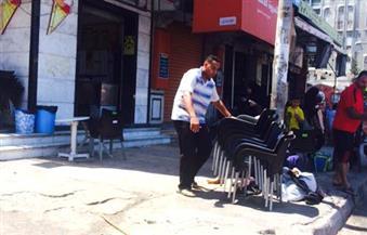 غلق وتغريم 12 كافيتريا وتحصيل ٨٠٠٠ جنيه غرامات في حملة بالإسكندرية