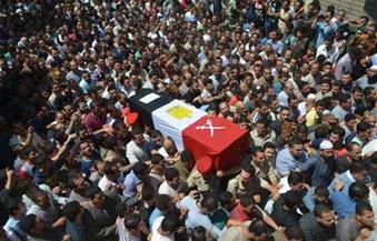 قرية الروضة بالمنوفية تستعد لاستقبال جثمان الشهيد محمد إسماعيل