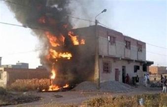 اندلاع حريق في 10 منازل بأسيوط
