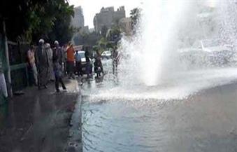 بعد انفجار ماسورة مياه بمحور الشهيد.. تحويلات لتسيير حركة المرور| فيديو