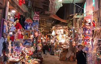 حى الموسكى يزيل الإشغالات والباعة الجائلين من ميدان العتبة وشوارع البوسطة والأزهر والجيش