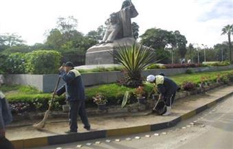 """تكثيف أعمال النظافة على الطريق الدولي """"دمياط - بورسعيد"""" وتجريف الرمال الجانبية"""
