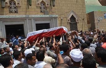 في جنازة عسكرية.. آلاف من أهالى دسوق يشيعون جثمان محمد عبدالهادى شهيد العريش إلى مثواه الأخير