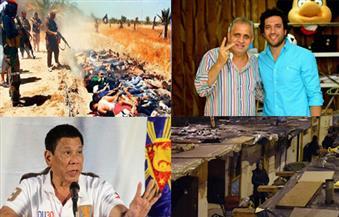 هتلر الفلبين.. مجزرة سبايكر.. الشارع الكئيب.. دفاع الرداد عن السبكى بنشرة السادسة