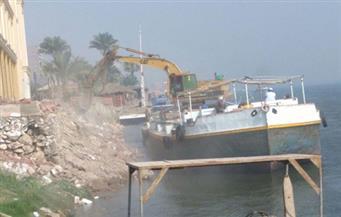 بالصور.. إزالة مبانِ فندقية ردمت 15 مترًا من حرم النيل في المنيا