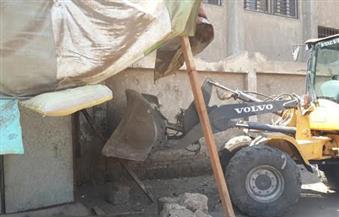 بالصور.. حملة لرفع الإشغالات بالقناطر الخيرية بالقليوبية
