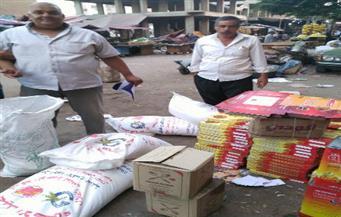 ضبط مصنع حلويات بدون ترخيص و21 طن أرز في حملة تموينية بفرشوط في قنا