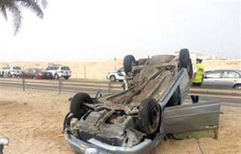 إصابة 7 مواطنين في انقلاب سيارة ملاكي بطريق (سفاجا- قنا)