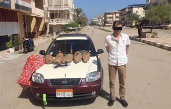 القبض على سائق تاكسي بحوزته 15 كيلو بانجو برأس البر