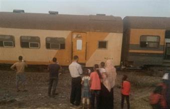 """لجنة فنية لتحديد سبب خروج 4 عربات من قطار """" كفرالشيخ – طنطا"""" عن القضبان في قرية الشين بالغربية"""