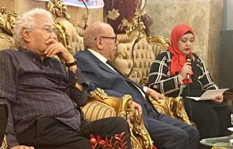 """بالصور.. صالون """"عبدالناصر هلال"""" الثقافي يحتفي بصلاح فضل..ونقاد: مثقف """"عضوي"""" استلهم تجربته من التراث"""