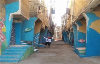 """بالصور.. مشاركون بـ""""ملتقى البرلس للرسم على الحوائط والمراكب"""": نطالب بتعميم التجربة بمحافظات مصر"""