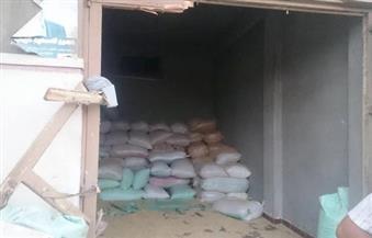 ضبط 50 طن أرز شعير داخل مخزن في قطور بالغربية