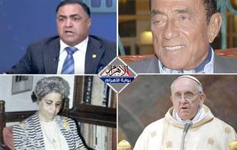 حسين سالم يتحدث..حرب عالمية على الزواج..عمرو خالد والأسطورة..وقفة ضد عجينة..وفاة نعمات فؤاد بنشرة منتصف الليل