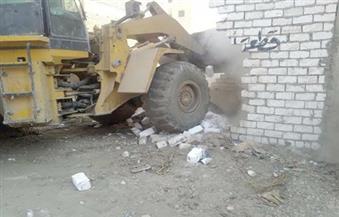 بالصور.. حملة إزالة تعديات على مدينة القناطر الخيرية والخانكة