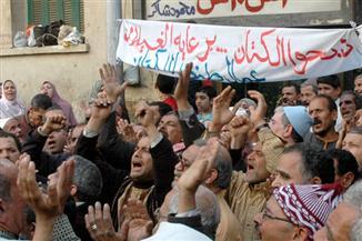 """المفصولون من """" كتان طنطا """" يعتصمون بمقر اتحاد عمال مصر لتنفيذ حكم عودتهم إلى الشركة"""