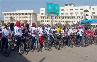 بالصور..انطلاق مهرجان الدراجات الأول بجامعة الفيوم