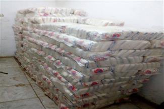 ضبط كميات من السكر والأرز مُخزنة لدى بقالات تموين بمركز دكرنس