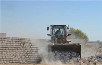 إزالة 13 حالة إزالة مبانٍ مخالفة على أراضٍ زراعية بالقليوبية