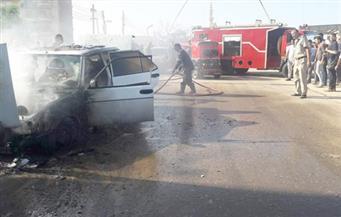 بالصور .. انفجار تانك سيارة ملاكي يعطل زيارة وزيرة الهجرة للسنطة في الغربية
