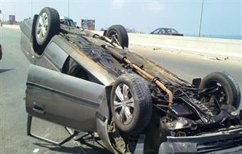 مصرع شاب فى حادث انقلاب سيارة ملاكي على طريق بورسعيد دمياط الدولى