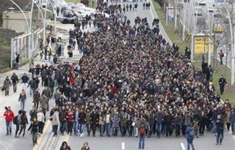 احتجاجات فى إسطنبول على إغلاق مؤسسة إعلامية كردية