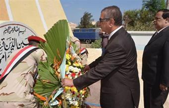 بالصور.. محافظ كفر الشيخ ومدير الأمن يضعان إكليلًا من الزهور على النصب التذكاري للجندي المجهول