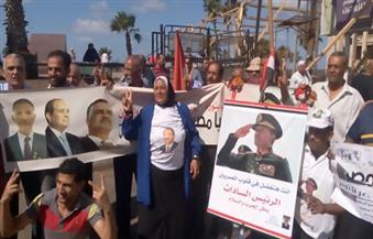 """بالصور والفيديو.. احتفالات نصر أكتوبر تتواصل بـ""""القائد ابراهيم"""" وسط الإسكندرية"""