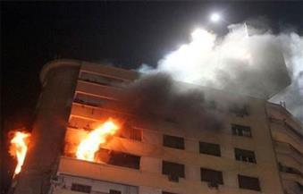 ماس كهربائي وراء حريق شقة سكنية بالشيخ زايد