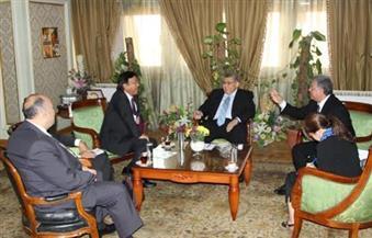 الشيحي يستقبل سفير اليابان لمتابعة أعمال تنفيذ المبادرة المصرية اليابانية للتعليم