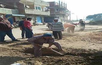 بالصور.. حملة لإزالة التعديات والمبانى علي الأراضى الزراعية بالشرقية