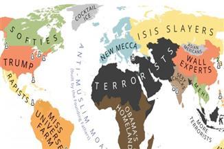 فنان بلغارى يرسم خريطة العالم وفقا لمعتقدات ترامب